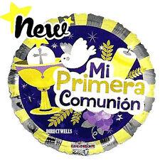 "First Communion Balloons "" Mi Primera Communion "" ( 3 Balloons ) 18"""