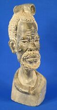 Gideon Chidongo Untitled Old African Zimbabwean Man Bust Stone Sculpture Signed