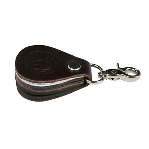 Tourbon Black Leather Fly Fishing Line Leader Straightener Cleaner Patch Clip on
