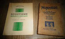 Scoutisme Méthode et Spiritualité MONTJOIE Recueil Chansons Populaires Scout