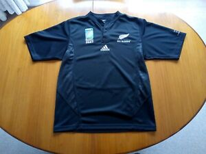 New Zealand Rugby Shirt Medium Size M 2007 World Cup Commemorative Jersey