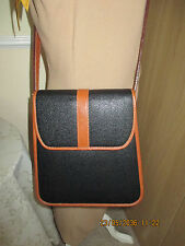 Mulberry Vintage (Restored) Scotch Grain  Leather Bag Black/Tan