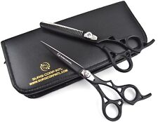"Professional Hairdressing Scissors With THINNING SET 6"" BLACK BEAUTY SHARP CUT"