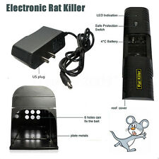 Black Electronic Mouse Mice Rat Zapper Rodent Trap Killer Victor Control US