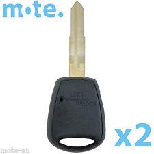 2 x Hyundai Accent Button Key Remote Case/Shell/Blank