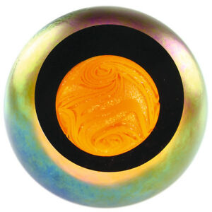 Glass Eye Studio celestial series paperweight Sun 529F  - Brand New
