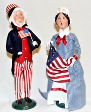 Byers Choice Uncle Sam & Betsy Ross Carolers - New Patriotic - Free Shipping