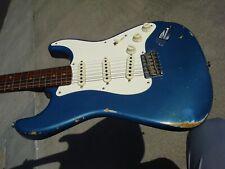 NAMM Fender Custom Shop Dual-Mag Stratocaster Relic Blue Solid Rosewood Neck