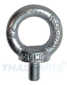 10 Stück Ringschraube M16 DIN 580 Stahl verzinkt Ringschrauben Ösenschraube