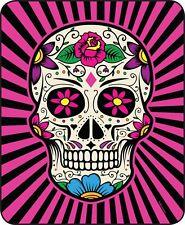 "45x60"" Super Soft Blanket Sugar Skull Pink Day Of The Dead Throw Faux Fur Fleece"