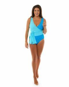 Teresa Color Block Women's One Piece Swimsuit /Swimwear - Aqua