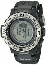 Casio Pro Trek Men's PRW3500-1 Tough Solar Atomic Black Resin Band 53mm Watch