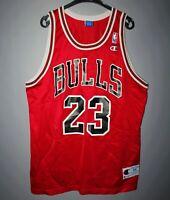 VINTAGE NBA CHICAGO BULLS BASKETBALL JERSEY CHAMPION #23 MICHAEL JORDAN SIZE 44