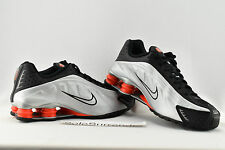 Nike Shox R4 - SIZE 9.5 - NEW - 104265-065 Black Metallic Silver Orange Retro OG