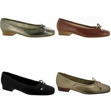 Evening Patternless 100% Leather Flats for Women