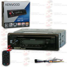 KENWOOD KDC-118 1-DIN CAR AUDIO CD RECEIVER AM FM STEREO W/ FRONT AUX INPUT