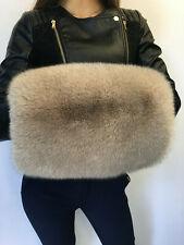 Finland Fox Fur Hand Muff Saga Furs Beige Palms Warmer Creamy Color