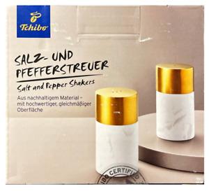Tchibo TCM Salzstreuer & Pfefferstreuer aus Marmor mit Edelstahl Deckel