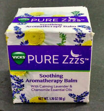 Vicks Pure Zzzs Soothing Aromatherapy Balm, Lavender/Chamomile Oils, 1.76 Ounces