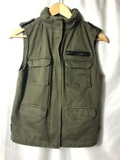 HIVE & HONEY Army Olive Green Vest Size Small