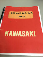 Kawasaki  1970 Vintage GA2 / G3TR / F2/3/4 , OEM SM-1 Service Manual , Re-Print.