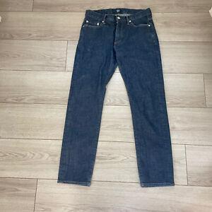 GAP 1969 Mens Slim Stretch Denim Jeans Resin Rinse Dark Wash 30x30