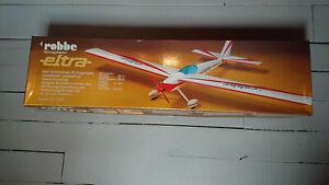 Kit Vintage impeccable avion RC ELTRA ROBBE fuselage fibre, ailes structure bois