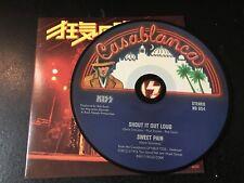 RARE CD Single  Kiss - Shout It Out Loud / Sweet Pain  CASABLANCA NM