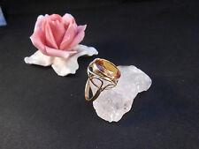 Goldring Ring 8 k 333 Gelbgold  mit Edelstein Citrin Größe 60 5,6 Gramm