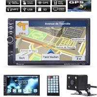 "New Lot GPS Navi 7"" HD 2 Din Bluetooth Car In-Dash Radio MP5 Player+ Camera mzus"