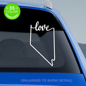 """Nevada State """"Love"""" Decal - NV Love Car Vinyl Sticker - add heart to a city!"""