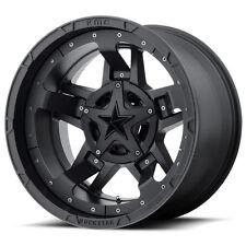 20x9 Black wheels rims XD827 ROCKSTAR 3 2007-2018 JEEP WRANGLER 5X5 -12mm