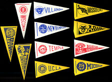 HUGE LOT OF 11 1961 Nu-Card College Football MINI Pennant Stickers RARE