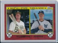 2017 Topps On Demand ASG 1987 Mark McGwire Aaron Judge Then & Now Cherry #d /10