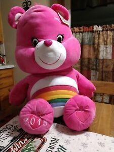 "Extra Large 36"" Rainbow Cheer Care Bear 2015 Soft Stuffed"