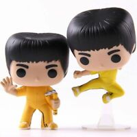 Bruce Lee Action Figure Jump Kick Limited Edition Yellow Model Toys With Box