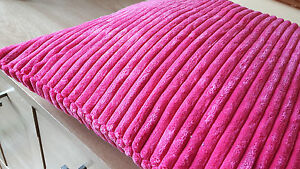 4 X SUPER SOFT CHENILLE JUMBO CORD CUSHION COVER VARIOUS COLOURS **FREE POST**