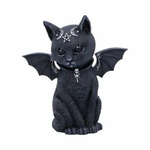 Malpuss Winged Occult Gothic Witchcraft Cat Figurine by Nemesis Now