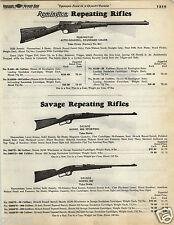 1935 PAPER AD Remington Repeating Rifle 8A Savage 99B 99F 99G 40 Super Sporter