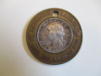 1960 American Savings Bank Michigan Good Luck ? Silver US Quarter encased