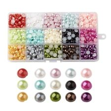 1125Pcs Half Round Domed Imitation Pearl ABS Beads Flat Back Pearl Cabochons
