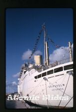 1965 kodachrome Photo slide Sweden ship   MS Gripsholm at Barbados