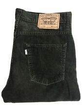 Levis Cords 752 Jeans Vintage Green Corduroy Denim W34 L32 Regular Straight