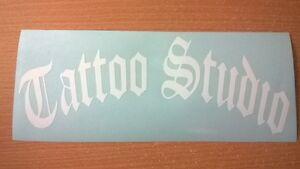 LARGE tattoo studio artist shop window door sign vinyl graphic wall art sticker