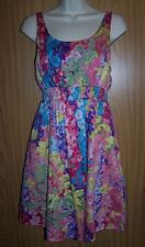 ANTHROPOLOGIE Lulumari  Floral Spaghetti Strap Embroidery Cut Out Dress M