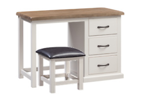 Painted Pine Dressing Table and Stool
