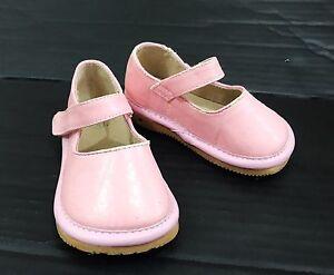 Shimmer Pink Leather Toddler Girl Shoes sz 4