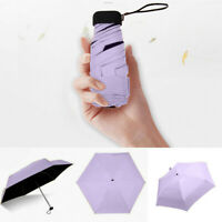 Flat Lightweight Umbrella Parasol Folding Sun Umbrella Mini Umbrella Fashion UK