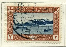 TURKEY;  1916 early issue fine used value 20pa.