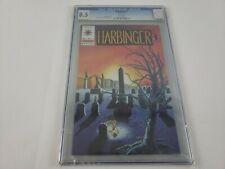 Harbinger #7 Valiant CGC 8.5 VF+ WHITE Pages Jim Shooter story Lapham & Mayo art